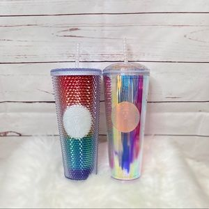 NEW Starbucks 🌈 Rainbow Tumbler & Iridescent Cup